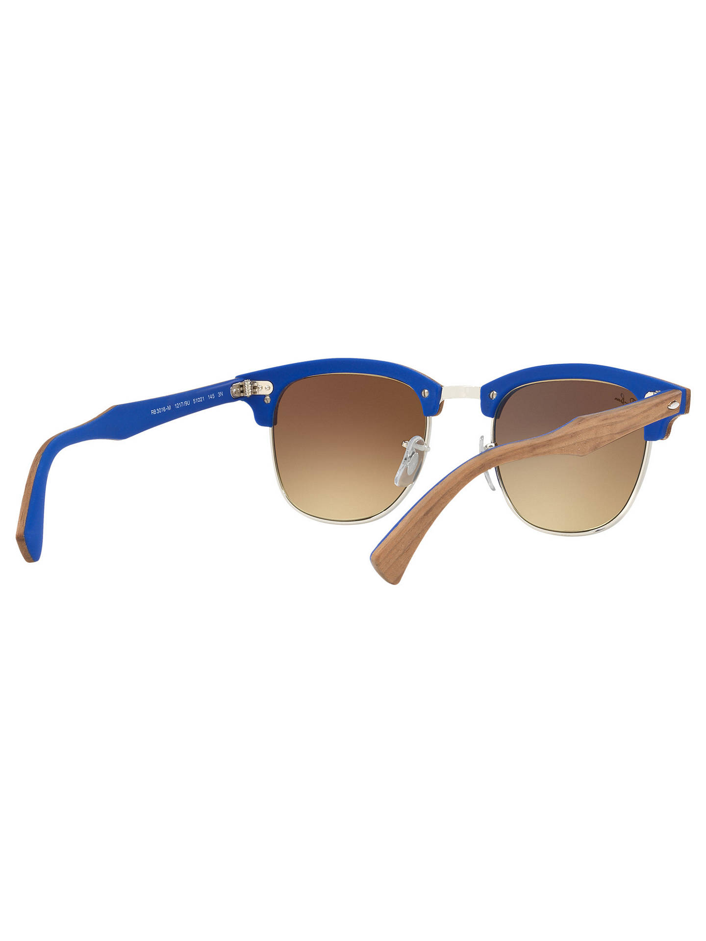 BuyRay-Ban RB3016M Classic Clubmaster Sunglasses, Tan/Mirror Silver Online at johnlewis.com