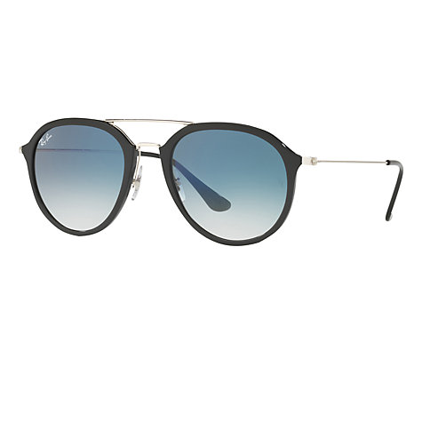 john lewis mens ray ban sunglasses  buy ray ban rb4253 aviator sunglasses, black/blue gradient online at johnlewis.