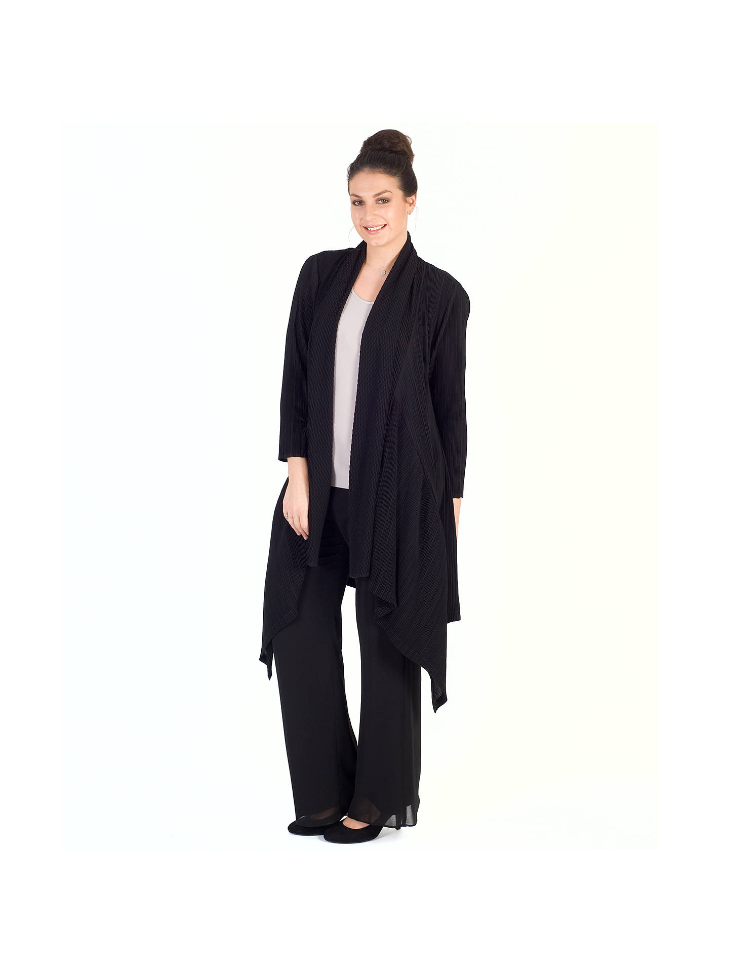 BuyChesca Pleated Shrug, Black Online at johnlewis.com