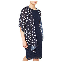 Buy Jacques Vert Chiffon Spot Wrap, Blue/Multi Online at johnlewis.com