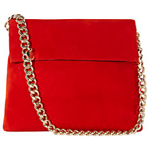Buy Karen Millen Suede Regent Handbag, Red Online at johnlewis.com