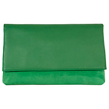Buy Karen Millen Brompton Leather And Suede Clutch Bag Online at johnlewis.com