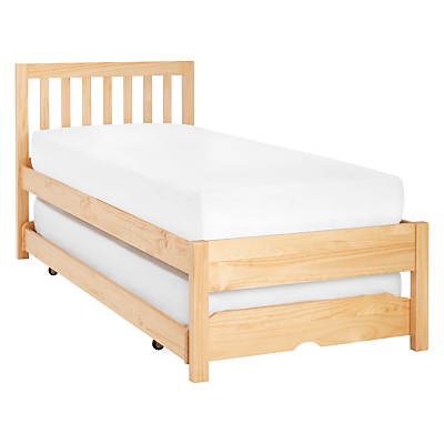 John Lewis Wilton Child Compliant Trundle Guest Bed with Open Spring Mattresses, Single