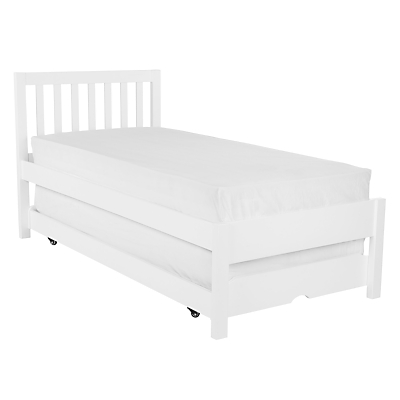 John Lewis Wilton Trundle Guest Bed with Open Spring Mattresses, Single