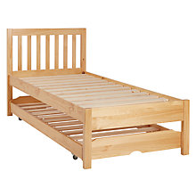 Buy John Lewis Wilton Trundle Guest Bed with Open Spring Mattresses, Single Online at johnlewis.com