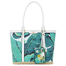 Buy Dune Dalmie Oversized Palm Print Canvas Shopper Bag, Green Online at johnlewis.com