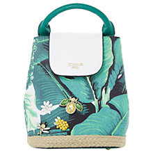 Buy Dune Dieberpalm Print Backpack, Green Online at johnlewis.com