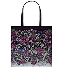 Buy Ted Baker Alencon Entangled Enchantment Large Shopper Bag, Navy/Multi Online at johnlewis.com
