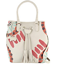 Buy Radley Southern Row Large Drawstring Grab Bag, Natural Online at johnlewis.com