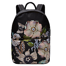 Buy Ted Baker Ivona Gem Gardens Backpack, Black Online at johnlewis.com