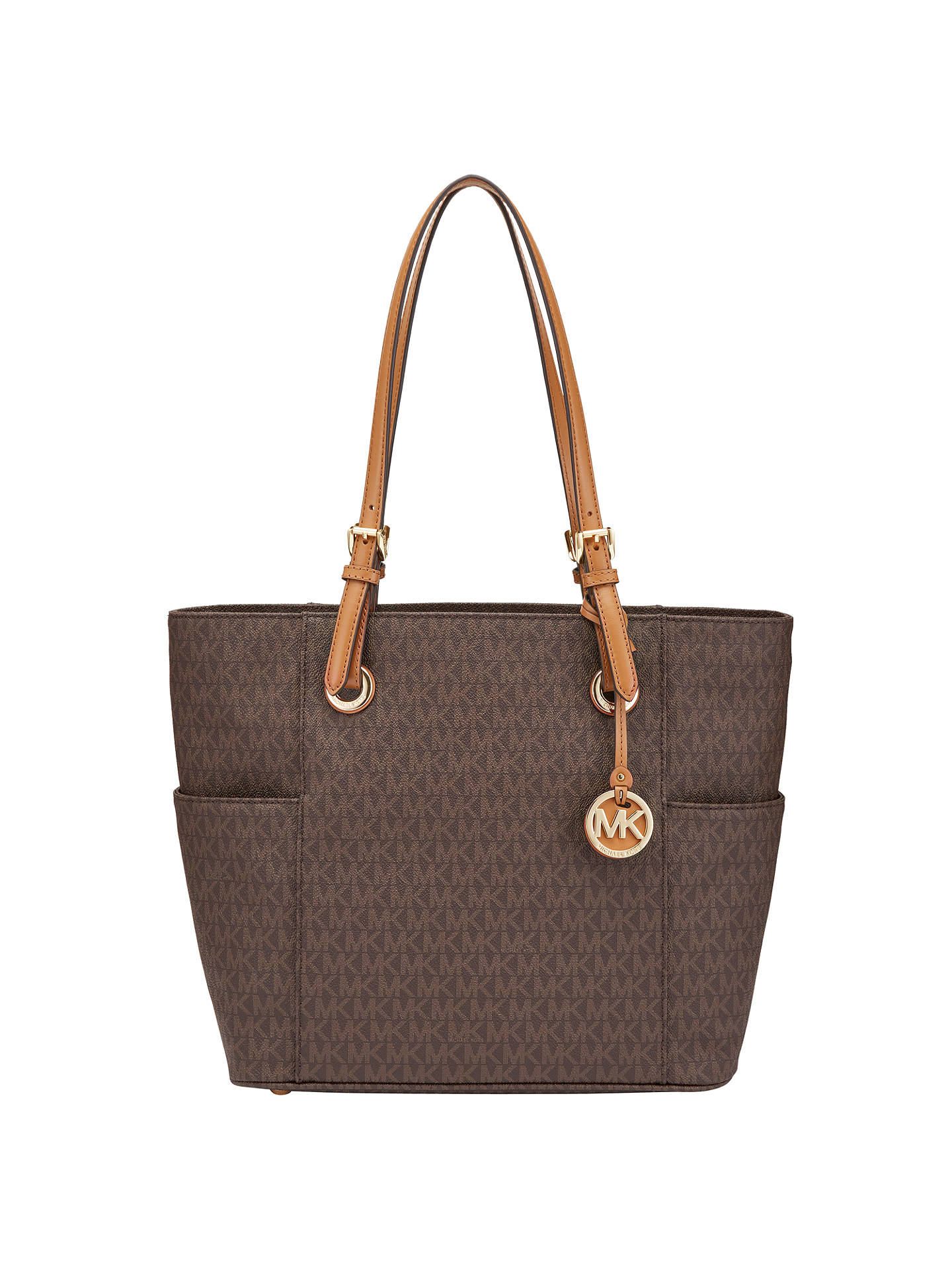 e6727ffad70f Buy MICHAEL Michael Kors Jet Set Signature Tote Bag, Brown Online at  johnlewis.com ...