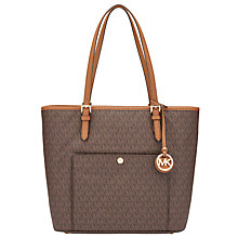 Buy MICHAEL Michael Kors Jet Set Item Leather Large Snap Pocket Tote Bag Online at johnlewis.com