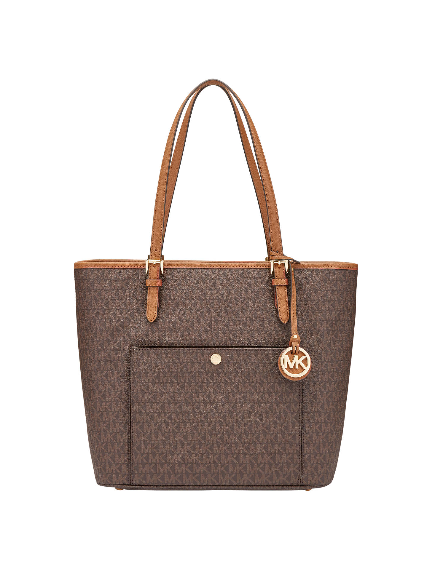 bd5d2bb165591 MICHAEL Michael Kors Jet Set Item Leather Large Snap Pocket Tote Bag ...