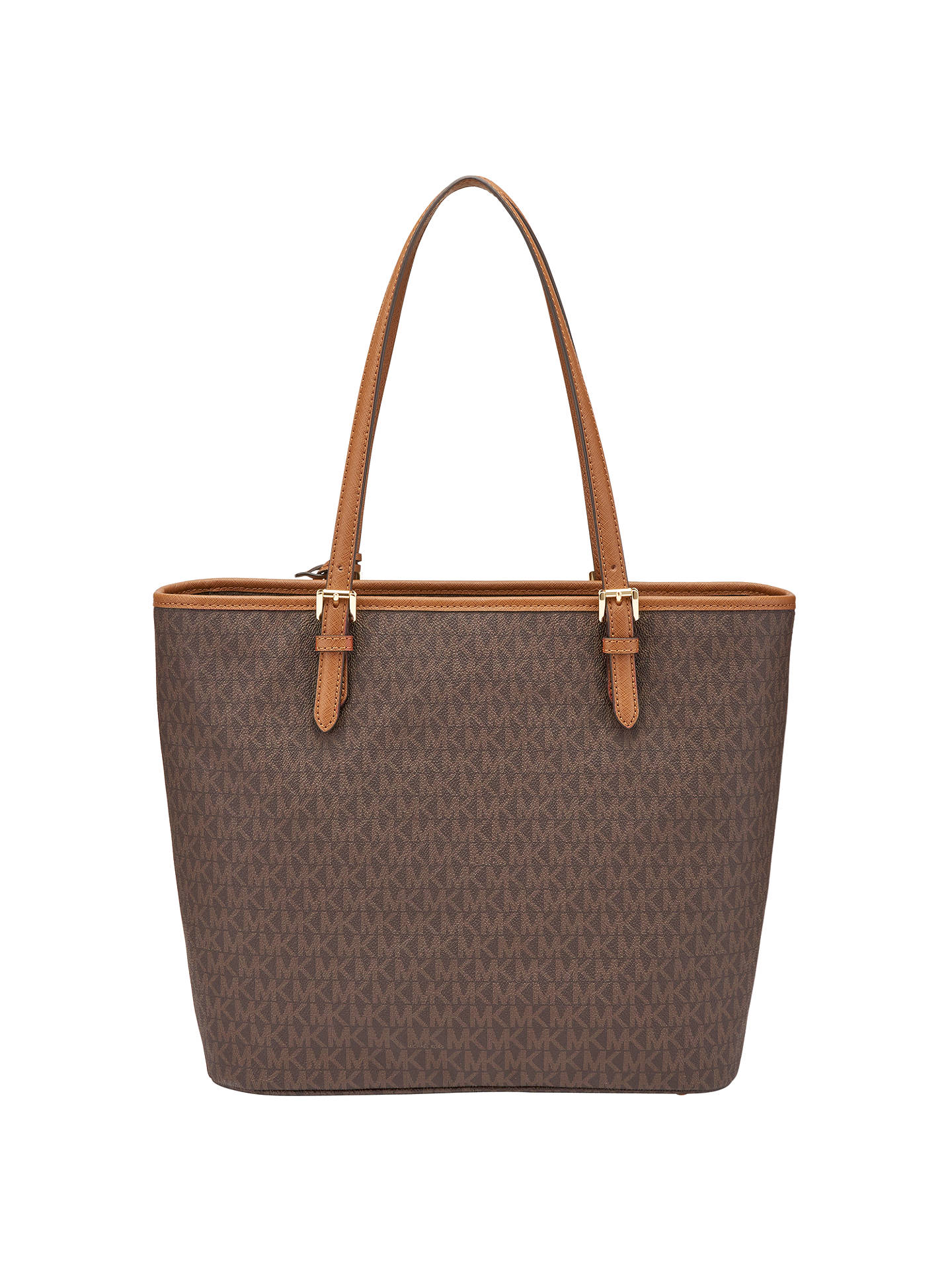 b88457ecf1de2 ... Buy MICHAEL Michael Kors Jet Set Item Leather Large Snap Pocket Tote Bag