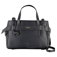 Buy Radley Cheyne Walk Leather Grab Bag, Black Online at johnlewis.com