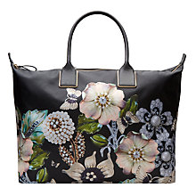 Buy Ted Baker Immy Gem Gardens Tote Bag, Black Online at johnlewis.com