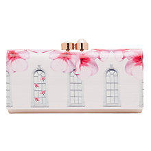 Buy Ted Baker Jojo Window Box Leather Matinee Purse, Baby Pink Online at johnlewis.com