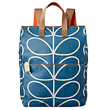 Buy Orla Kiely Linear Giant Stem Canvas Backpack, Blue Online at johnlewis.com
