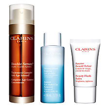 Buy Clarins Double Serum 50ml Skincare Gift Set Online at johnlewis.com