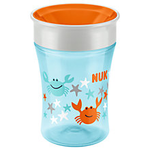 Buy NUK Magic Crab Cup, Blue/Orange Online at johnlewis.com