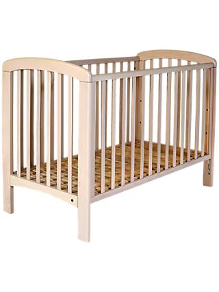 John Lewis & Partners Anna Dropside Cot, White Wash