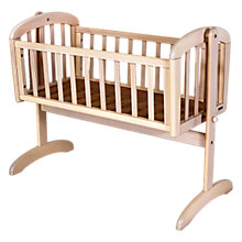 Buy John Lewis Anna Swinging Crib, White Wash Online at johnlewis.com