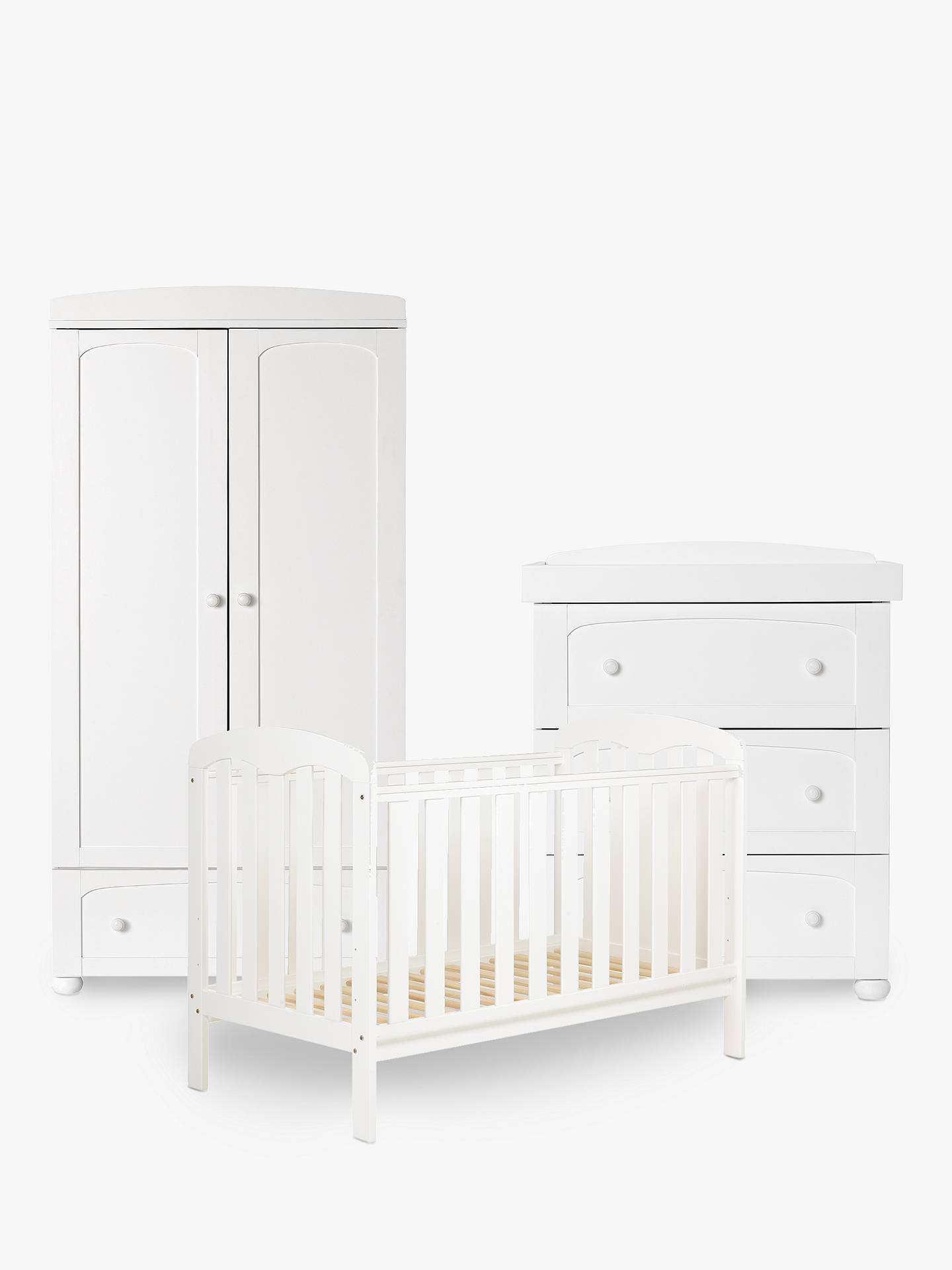 John Lewis Rachel Nursery Furniture Set White Online At Johnlewis