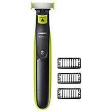 Buy Philips QP2520/25 OneBlade Styler and Shaver, Lime Online at johnlewis.com
