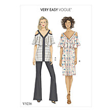 Buy Vogue Women's Top and Trousers Sewing Pattern, 9238 Online at johnlewis.com