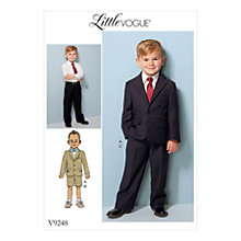 Buy Vogue Children's Jackets With Shorts and Trousers Sewing Pattern, 9248 Online at johnlewis.com