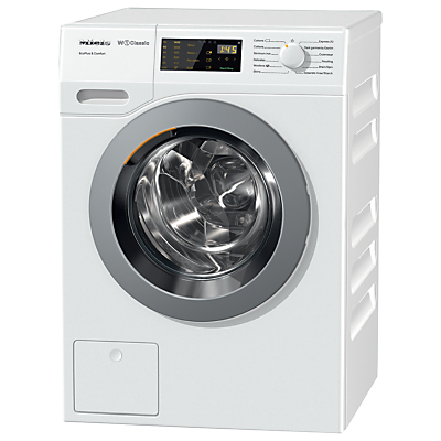 Miele WDD030 Freestanding EcoPlus Comfort Washing Machine, 8kg Load, A+++ Energy Rating, 1400rpm Spin, White