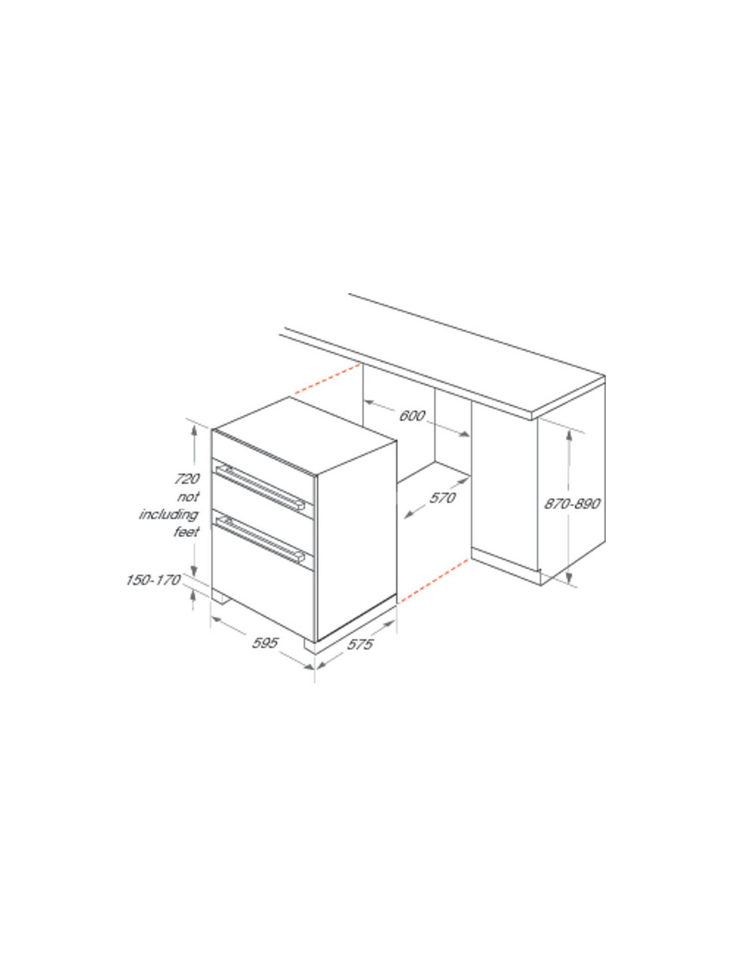 Indesit IDU6340BL Built-Under Electric Double Oven, Black