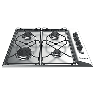 Indesit Aria PAA642IXI Built-In Gas Hob, Stainless Steel