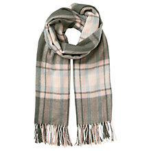 Buy Miss Selfridge Check Scarf, Pink/Grey Online at johnlewis.com