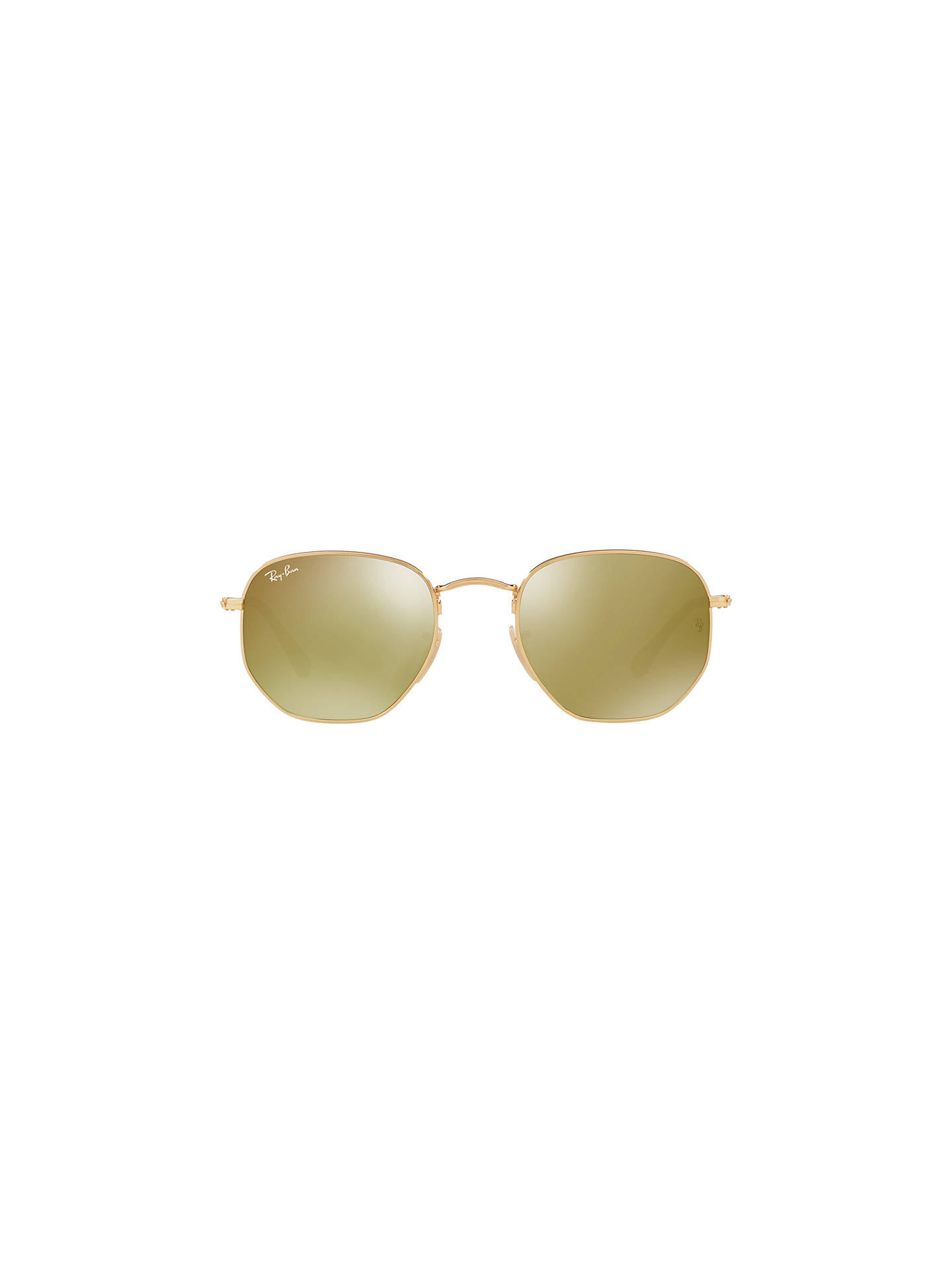 Buy Ray-Ban RB3548N Hexagonal Sunglasses, Gold/Yellow Flash Online at johnlewis.com