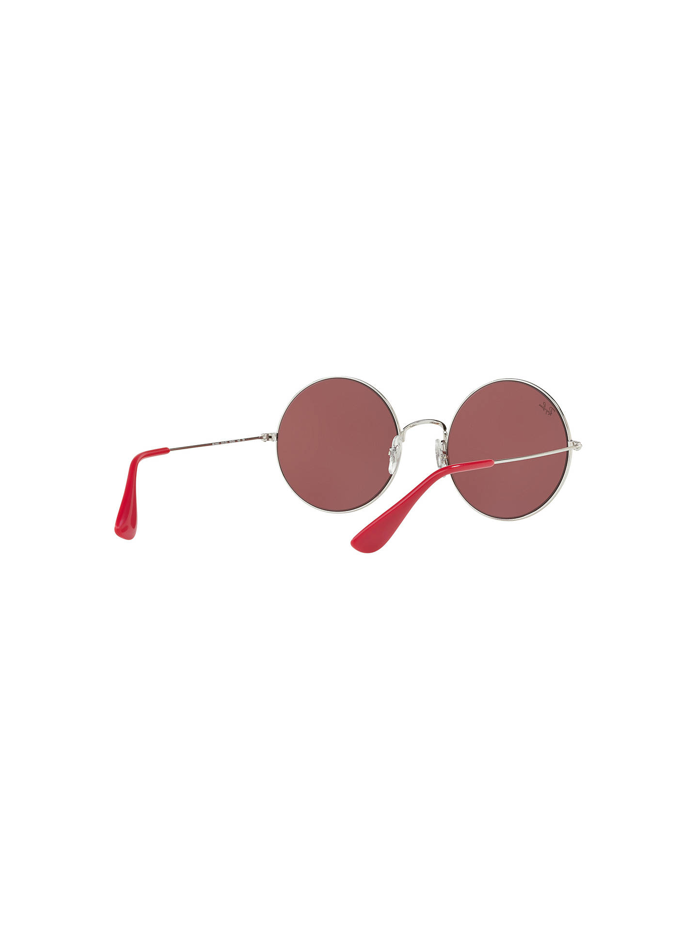 Buy Ray-Ban RB3592 Ja-Jo Round Sunglasses, Silver/Red Online at johnlewis.com