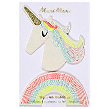 Buy Meri Meri Children's Iron On Unicorn Patches, Pack of 2 Online at johnlewis.com