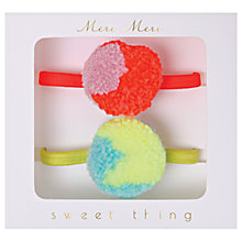 Buy Meri Meri Children's Pom Pom Hair Ties, Pack of 2 Online at johnlewis.com