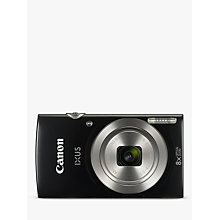 "Buy Canon IXUS 185 Digital Camera, HD 720p, 20.0MP, 8x Optical Zoom, 16x Zoom Plus, 2.7"" LCD Screen with Wrist Strap Online at johnlewis.com"