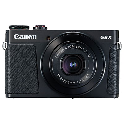 Canon PowerShot G9 X Mark II Digital Camera, 1080p, 20MP, 3x Optical Zoom, OIS, Bluetooth, NFC, Wi-Fi, 3 Touch Screen