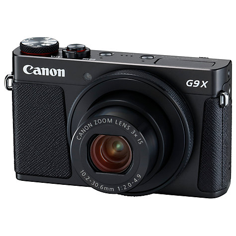 "Buy Canon PowerShot G9 X Mark II Digital Camera, 1080p, 20MP, 3x Optical Zoom, OIS, Bluetooth, NFC, Wi-Fi, 3"" Touch Screen Online at johnlewis.com"