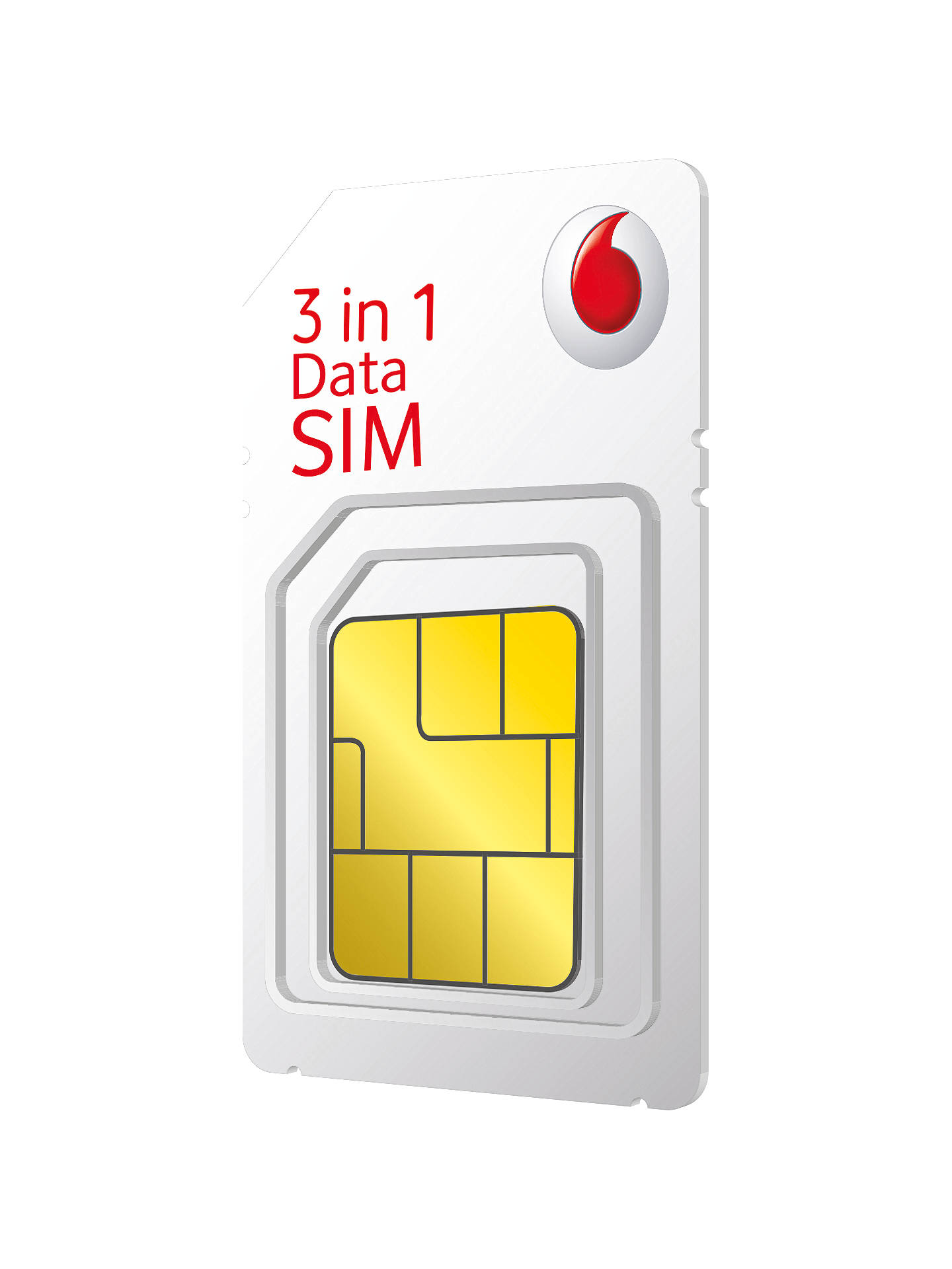 Vodafone 3-in-1 SIM Pack, £10 Top Up at John Lewis & Partners