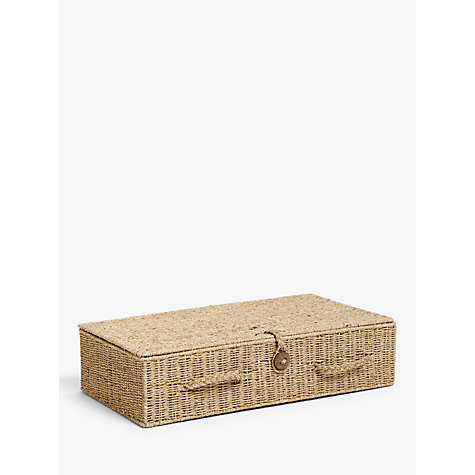 buy john lewis fusion seagrass under bed storage box. Black Bedroom Furniture Sets. Home Design Ideas