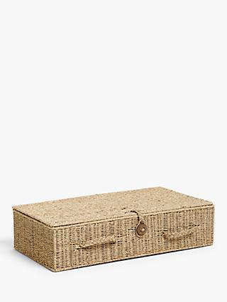 John Lewis & Partners Fusion Seagrass Under Bed Storage Box
