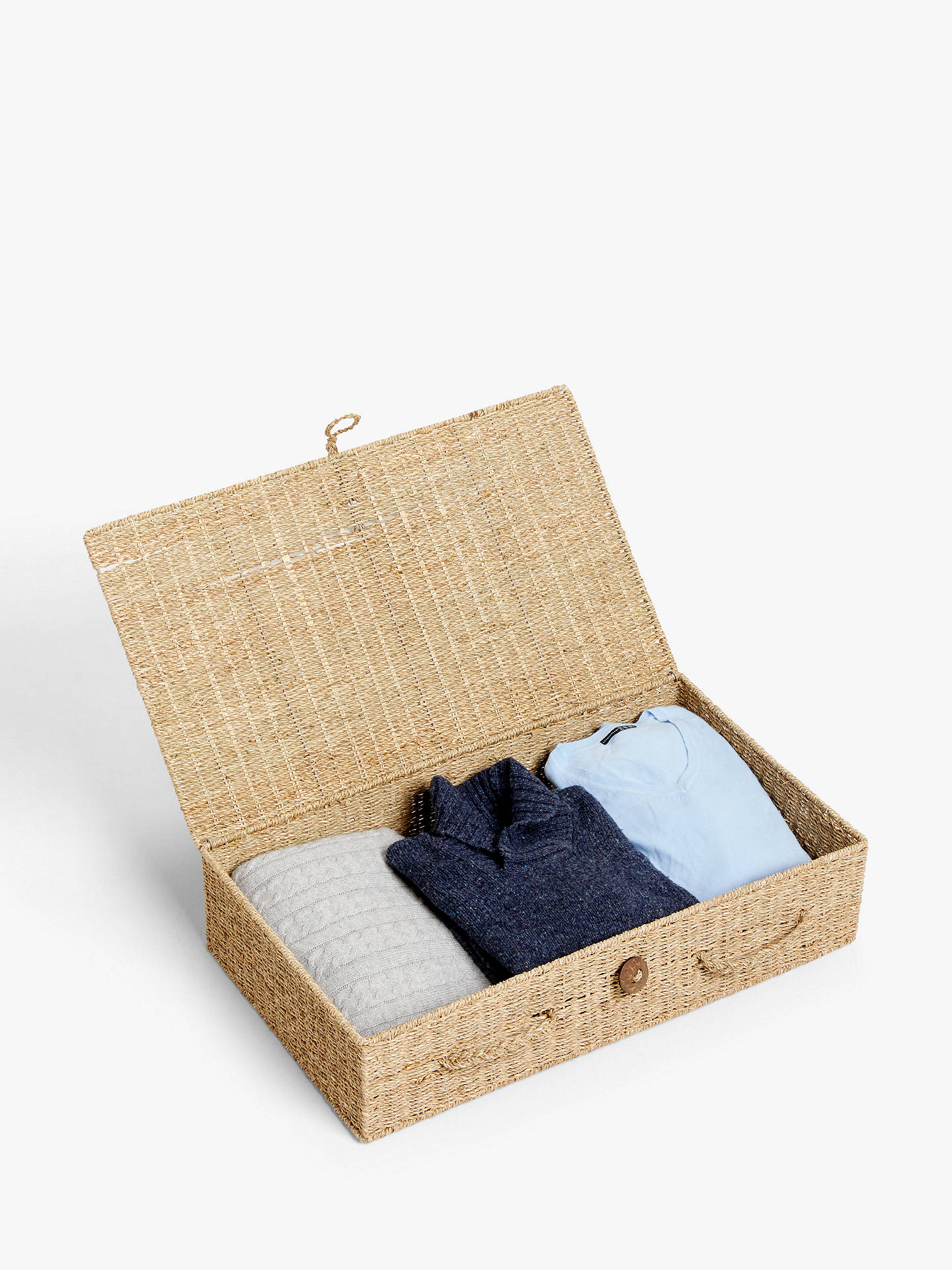 Buy John Lewis & Partners Fusion Seagrass Under Bed Storage Box Online at johnlewis.com