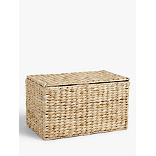 Buy John Lewis Water Hyacinth Lidded Box Online at johnlewis.com