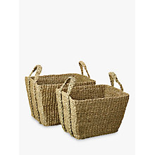 Buy John Lewis Seagrass Twist Handle Basket, Set of 2 Online at johnlewis.com