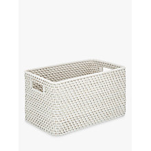 Buy John Lewis Croft Collection Rattan Basket, White Online at johnlewis.com