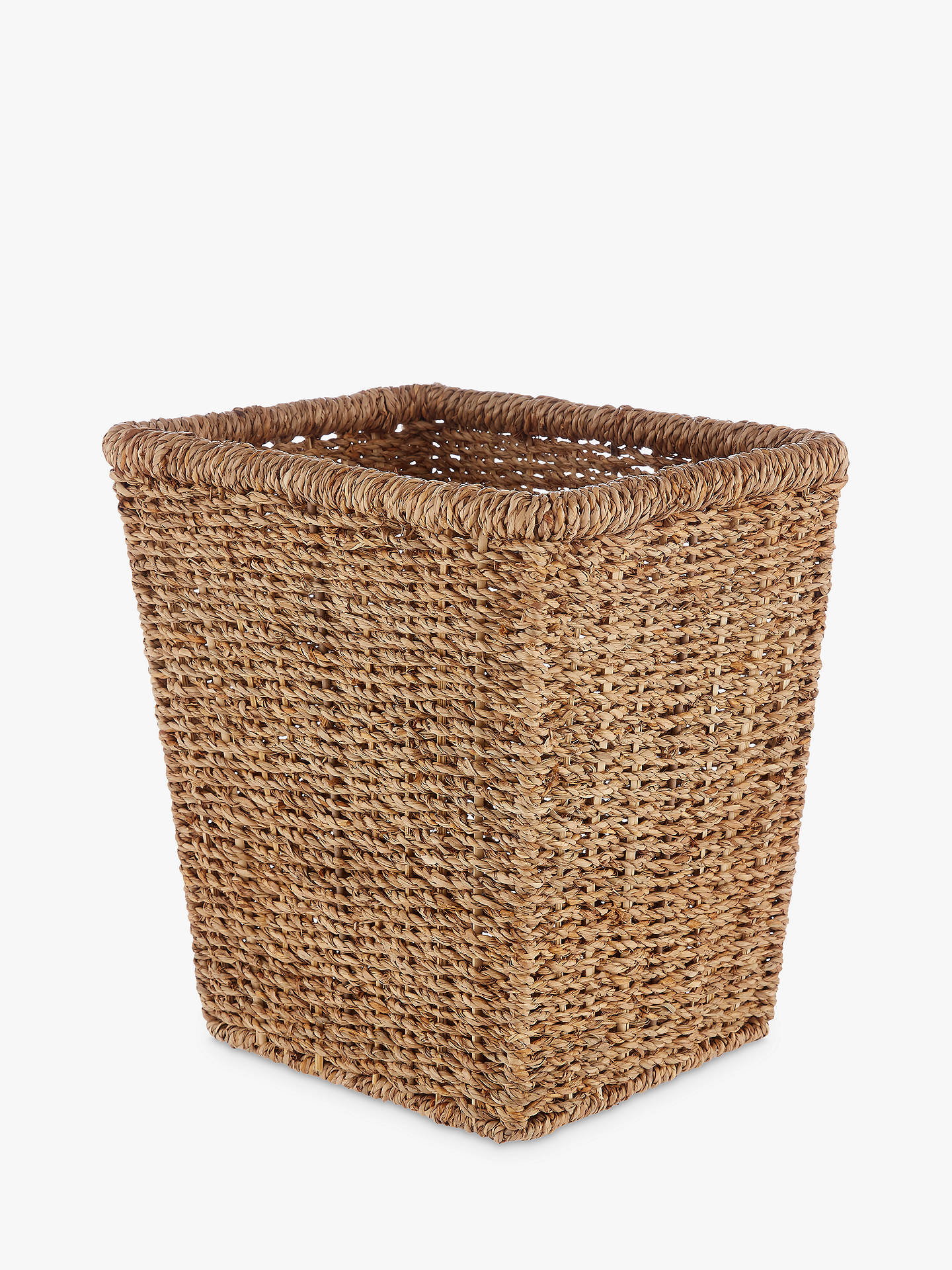 Buy John Lewis & Partners Fusion Seagrass Wastepaper Bin Online at johnlewis.com