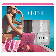 Buy OPI Fiji Two-Timing The Zones With Plumping Top Coat Duo Pack Online at johnlewis.com